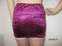 Sizes 10 - 20Ladies,Transvestite,crossdresser,Velvet,Mini,Fitted,short Skirt