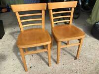 Pair Of Habitat Wooden Dining Chairs