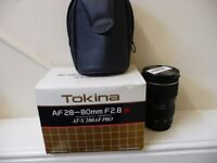 TOKINA 28-80mm 2.8 canon fit