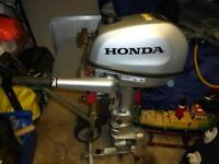 honda 5 hp 4 stroke outboard bought in june 2018 mint condition with 7 year honda guarantee