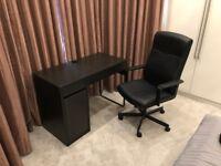 GREAT DEAL - IKEA Micke Desk and Millberget Swivel Chair