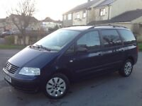 VOLKSWAGEN SHARAN 1.9 TDI (130) MANUAL DIESEL BLUE ** LONG MOT!!! ** 7 SEATER!!! **