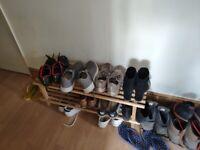 IKEA BUNDIS Shoe rack solid wood