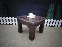 JALI SHESHAM WOOD COFFEE TABLE PROPER CHUNKY ONE VERY HEAVY TABLE IN EXCELLENT CONDITION