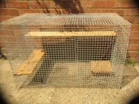 Rat or chinchilla cage all metal with wooden shelves
