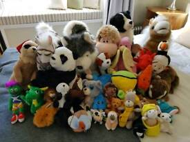 Over 25 soft toys
