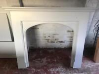 White Fire surround with marble hearth