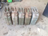 Metal Fuel cans . Jerry cans job lot £30