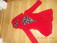 Lovely next girls hooded winter coat/ jacket aged 4 -5 years