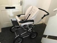 Prestiage cream leather pram