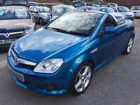 2007/07 VAUXHALL TIGRA 1.4 16V EXCLUSIV,METALLIC BLUE,HEATED LEATHER SEATS,LOOKS AND DRIVES WELL