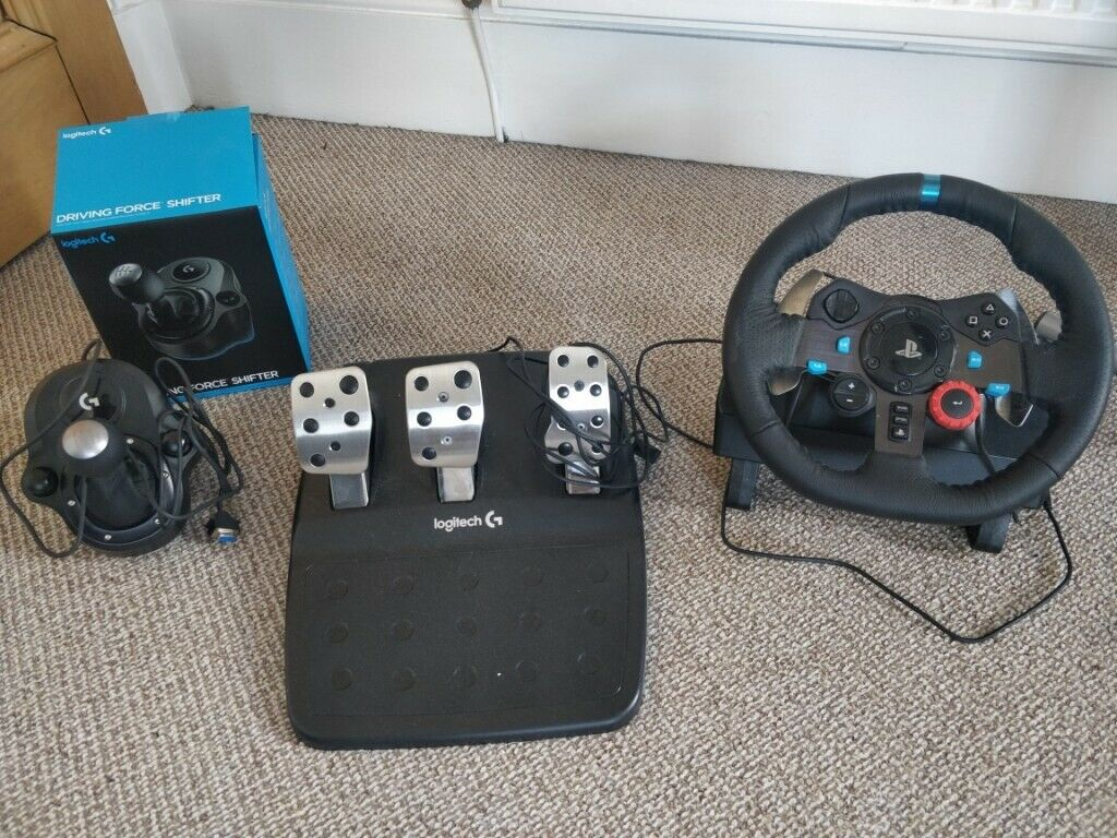 4dd0ecb2450 Logitech G29 Driving Force Racing Wheel with Pedals + Force Shifter for sale