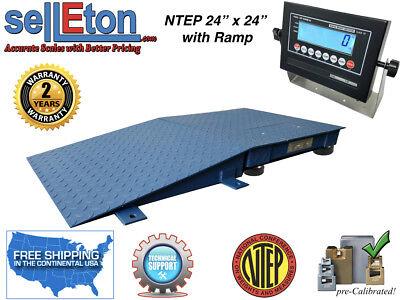 Floor Scale Ntep 1 Ramp 24 X 242 X 2 5000 Lbs X 1 Lb With Lcd Display