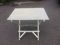 Folding table vintage shabby chic