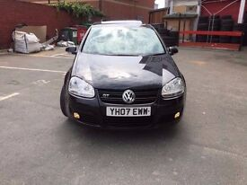 Volkswagen Golf VW GT 1.4 Black 2007 104000 miles 11 months MOT and TAXED