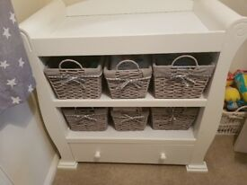 Changing table with baskets