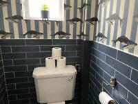 Bathroom WC Ragno Blue Porcelain Metro tiles x 50
