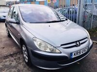 PEUGEOT 307 AUTOMATIC 1.6 LX PETROL 5 DOORS HATCHBACK GREY