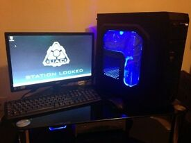 AVP Mamba Blue AMD A8 Gaming PC Package QUICK SALE