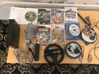 Nintendo Wii Black Console Full Set Up Bundle Plus Games Full Working Order