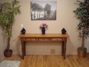 Rustic Pine Sofa Table