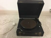Vintage record player , needs servicing as not working at the moment . Complete with electric lead