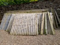 Used wooden Fence 1.8m high x 22m length with 2 x 2m gates