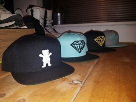 Grizzly diamond snapbacks caps brand new