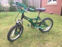 "Kids BMX style bike 16"" wheels"