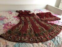 Indian traditional outfit/chaniya choli/half sari/lengha choli