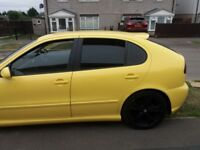 Stunning 1.8t seat cupra in stunning yellow