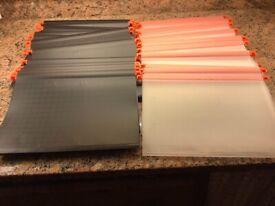 Plastic drop folders