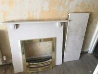 Marble Fireplace with base plinth and chrome surround cover in Edinburgh