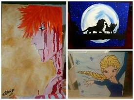 Handpainted canvases