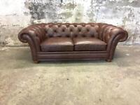 John Lewis Leather Chesterfield Sofa