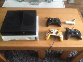 Xbox 360 slim, games and accessories