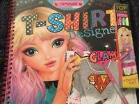 Top model t- shirt designer and top model neon pencils