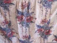 Curtains - large floral print