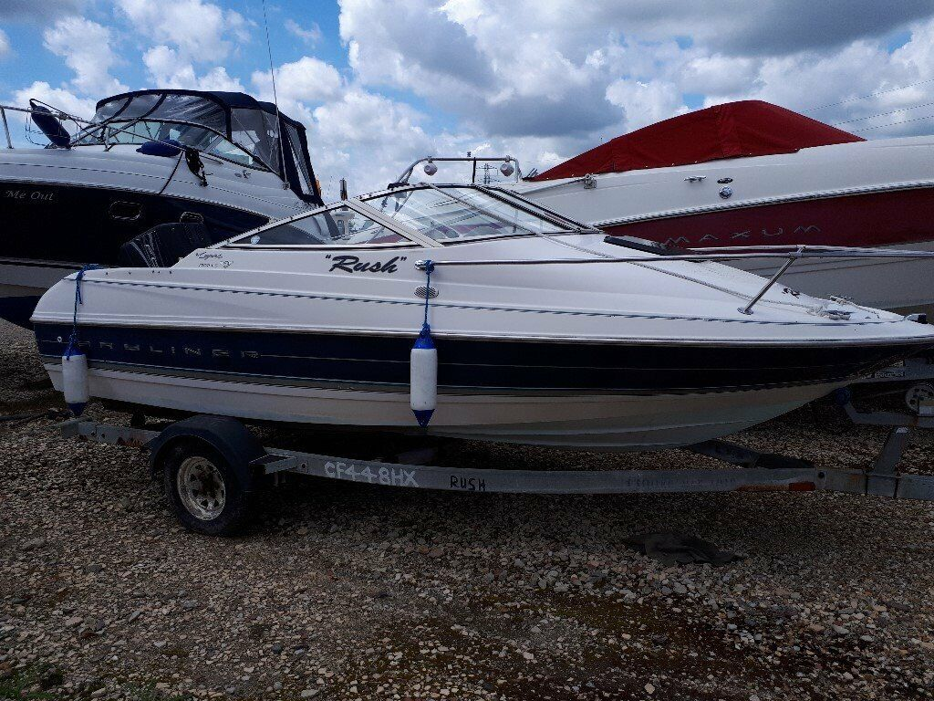 17ft Bayliner Capri 1702 LS Cuddy (1997) with 120hp Mercury outboard on  unbraked trailer  | in Poole, Dorset | Gumtree