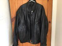 Leather Jacket Black NEW