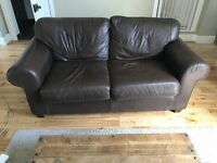 Leather sofa in used condition