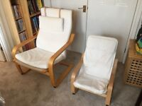 Ikea Poang Chair - adult and child set