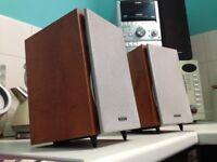 sony loudspeakers solid wood