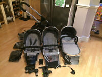 iCandy Peach 3 Blossom Travel System in TRUFFLE + EXTRAS. Great condition.