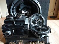 Full Sony Hi-Res Full Car Sound System, Radio,Sub woofer, Tweeters, Speakers & Amplifier
