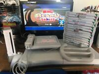 Nintendo Wii console full set up and games