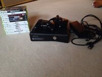 Xbox 360 S Console, Two Controllers and 13 Games