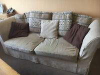 3 Seater Sofa Bed, Armchair & Footstool