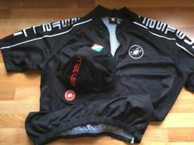 Castelli cycling jersey + cap FREE POSTAGE