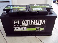 PLATINUM SEALED LEISURE PLUS 12V 100 AMPS BATTERY, LESS THAN 1 YEAR OLD, GREAT CONDITION